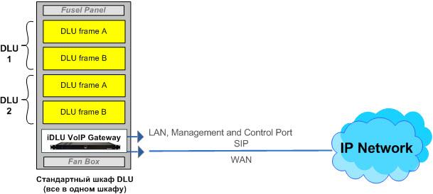 Сетевая схема интеграции стативов DLU EWSD в IP сеть, мультисервисные сети связи NGN