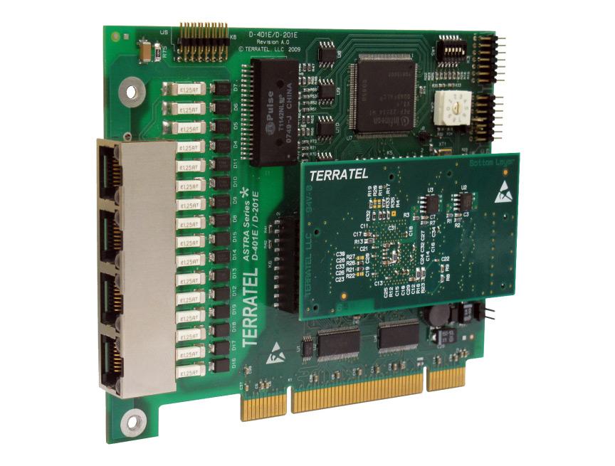 фото цифровой платы 4Е1 телефонии для Asterisk c модулем аппаратного эхоподавления